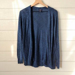GAP Lightweight Open Front Blue Cardigan Medium